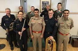Dirigenten aus dem Oman besuchten Polizeimusik