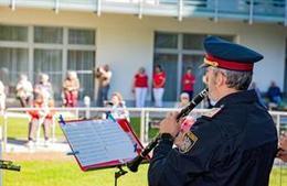 Polizeimusik Wien gibt 'Zaunkonzerte'